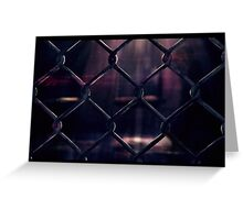 Through the fence... Greeting Card