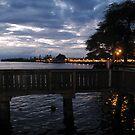 Lahaina Citylights at Sunset by aura2000