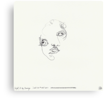 (Night) & Nap Drawings 24 - Her eyes were disproportionately large - Eyes closed - 1st August 2013 Canvas Print