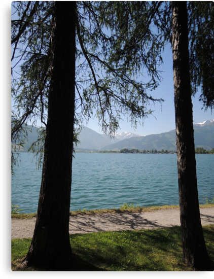 Zell Am See: Lake Through Trees by CreativeEm