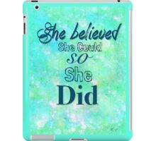She Did iPad Case/Skin