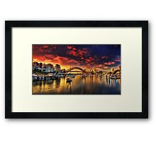 Lavender Bay Sunrise - Panorama  Framed Print