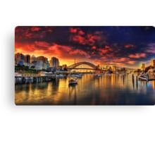 Lavender Bay Sunrise - Panorama  Canvas Print