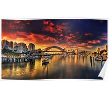 Lavender Bay Sunrise - Panorama  Poster