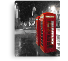 Edinburgh On The Phone - Classic Red British Phone Box Canvas Print