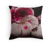 Wonderful Flower with Waterdrops Throw Pillow