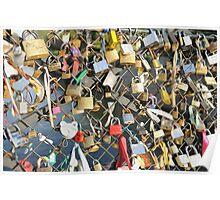 Love Locks on the Seine Poster