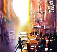 New York City, watercolour by Jenny Barnes
