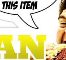 Man v Food - consuming for honour! Sticker