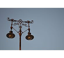 Wrought Iron Lamppost Photographic Print