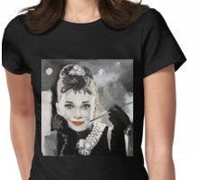 Audrey in Breakfast at Tiffanys Womens Fitted T-Shirt