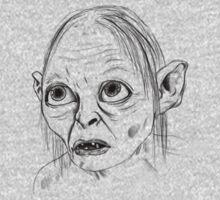 Gollum Portrait Tee Print Kids Clothes