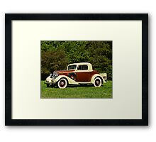 1933 Chevy Master Coupe Framed Print