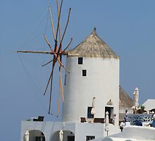 Santorini Windmills by DRWilliams