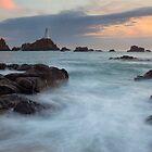 Corbiere At Dusk - Jersey Channel Islands by Mark Nelson
