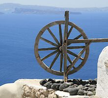 Santorini Windmill by DRWilliams