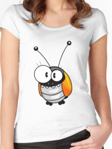 Cartoon bug Women's Fitted Scoop T-Shirt