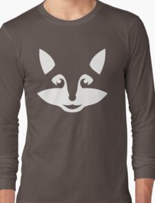 Cute Minimalist Fox Long Sleeve T-Shirt