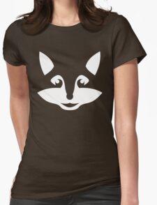Cute Minimalist Fox Womens Fitted T-Shirt