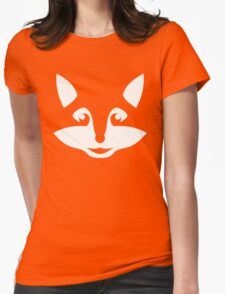 Cute Minimalist Fox Womens Fitted T-Shirt