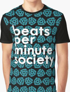 BEATS PER MINUTE SOCIETY Graphic T-Shirt