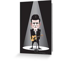 Johnny Cash Greeting Card
