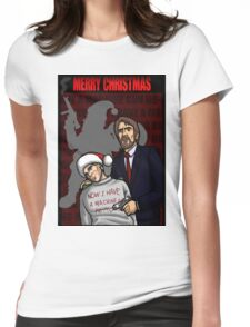 """Now I have a machine gun Ho-ho-ho"" Womens Fitted T-Shirt"