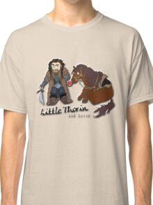 Little Thorin and Horse Cartoon Tee Print Classic T-Shirt