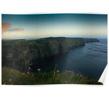 Cliffs of Moher at dusk Poster