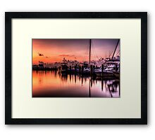 Biloxi Two Tone Framed Print