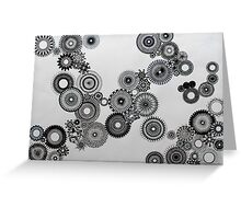 Abstract Black and white spiral fun! Greeting Card