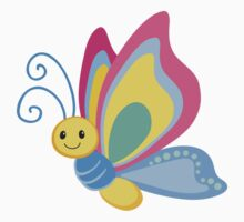 Cute Cartoon Butterfly One Piece - Long Sleeve