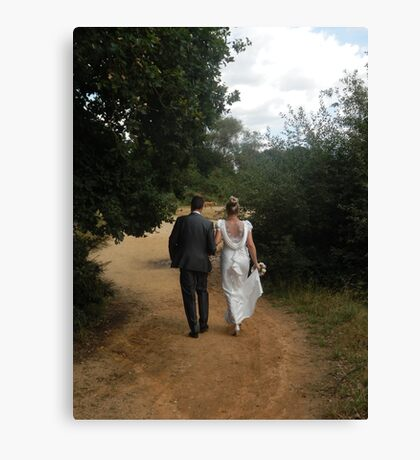 Marriage in the forest Canvas Print