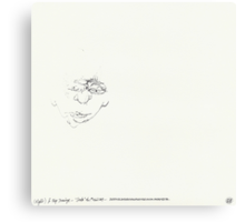 (Night) & Nap Drawings 26 - A little little Man - Eyes closed - 1st August 2013 Canvas Print