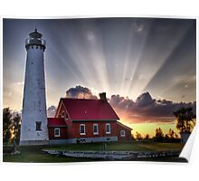 Tawas Point Lighthouse Sunset Poster