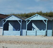 Beach Huts by Kelsey Leigh Hayes