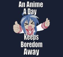 An Anime A Day Keeps Boredom Away - Konata Izumi Kids Tee