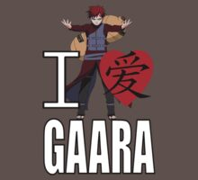 I Love Gaara Kids Clothes