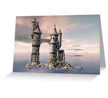Fantasy Castle on The Sea Greeting Card