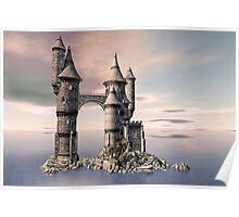Fantasy Castle on The Sea Poster