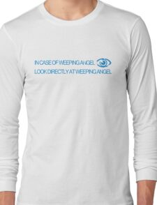 In Case of Weeping Angel Long Sleeve T-Shirt