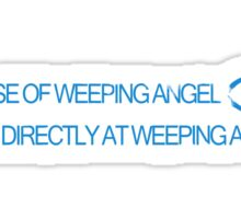 In Case of Weeping Angel Sticker