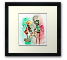 Little Asgard Framed Print