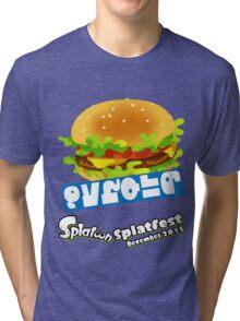 Splatfest Team Burger v.3 Tri-blend T-Shirt