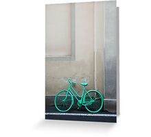 Green Cycle Greeting Card