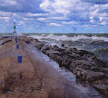 Lake Michigan Pier by Phil Perkins