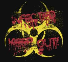 Infected - Keep Out! (Distressed) by PaulRoberts