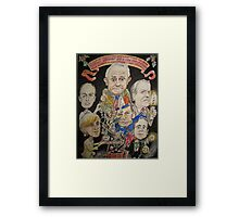 2015 End of year card- another PM over and a new one just begun Framed Print