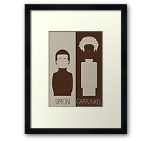 Simon and Garfunkel Framed Print
