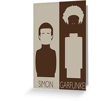 Simon and Garfunkel Greeting Card